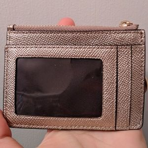 Coach Champagne Card Holder and Coin Purse